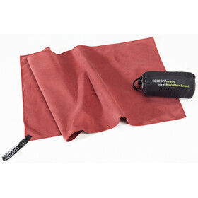 Cocoon Microfiber Towel - Serviette de bain - Ultralight X-Large rouge